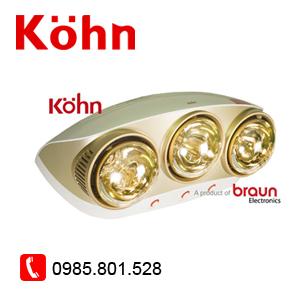 Đèn sưởi 3 bóng Kohn KU03G